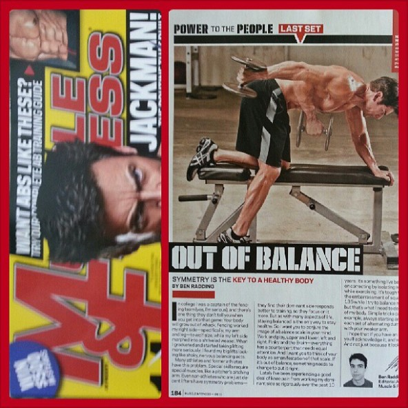 TJ Hoban, Muscle and Fitness, muscle imbalence